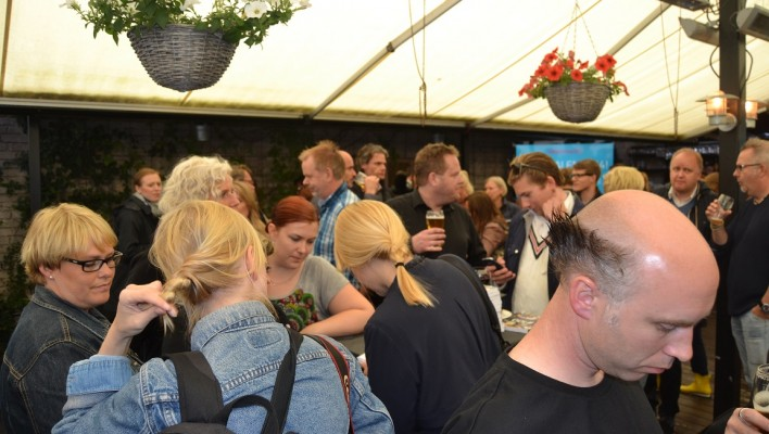 Foto från Intellecta Corporates seminarium/mingel under Almedalen 2014 - ett mycket bra arrangemang!